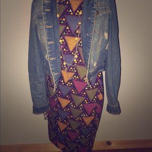 LuLaroe triangle print knee length dress quarter